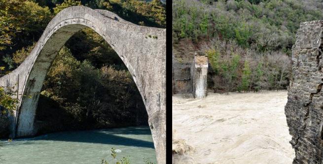 Исторический мост в Арте обрушился из-за проливных дождей